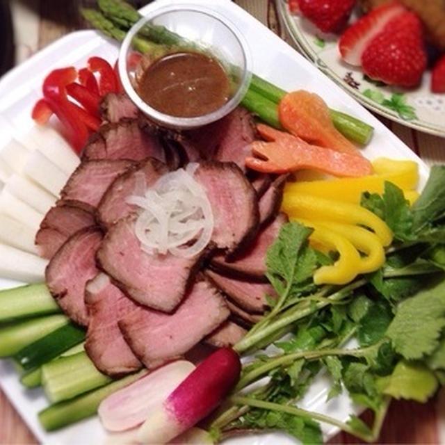 お肉もお野菜もガッツリ☆ローストビーフ