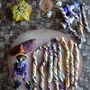 紫いもと冷凍パイシートのストローパイ