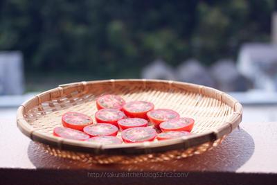 トマトを干した。