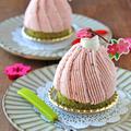 春お菓子☆抹茶と苺の桜モンブラン~持ち寄りランチ