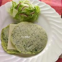 糖質オフレシピ♪「ほうれん草とチーズの米粉パンケーキ」 と お知らせ