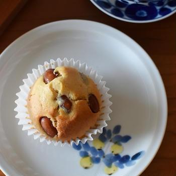 ノンバター「金時豆の米油マフィン」