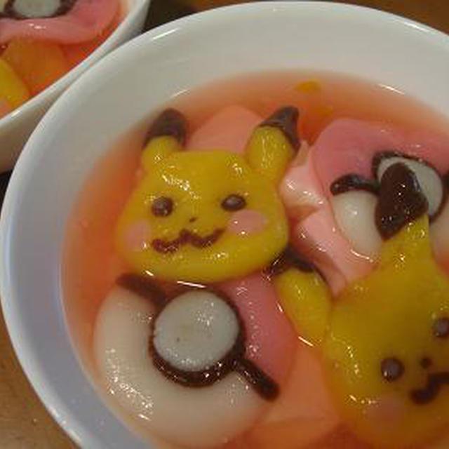 フルーツ+杏仁+白玉