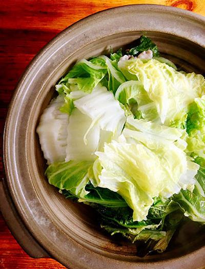 白菜と豚肉の重ね蒸し煮