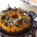 ハロウィンに♪ かぼちゃのモンブランケーキ・・・掲載、感謝。