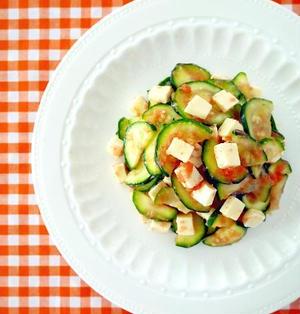 生ズッキーニの明太チーズサラダ♪切って混ぜるだけ省エネ節電レシピ