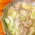 鶏とキャベツの鍋〜ガーリック風味
