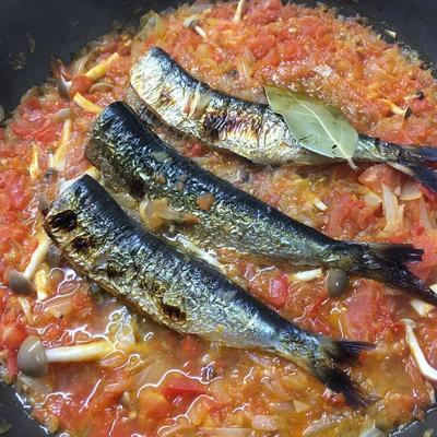 【いわし】脂ののった鰯とトマトがとてもよく合う「トマト煮」
