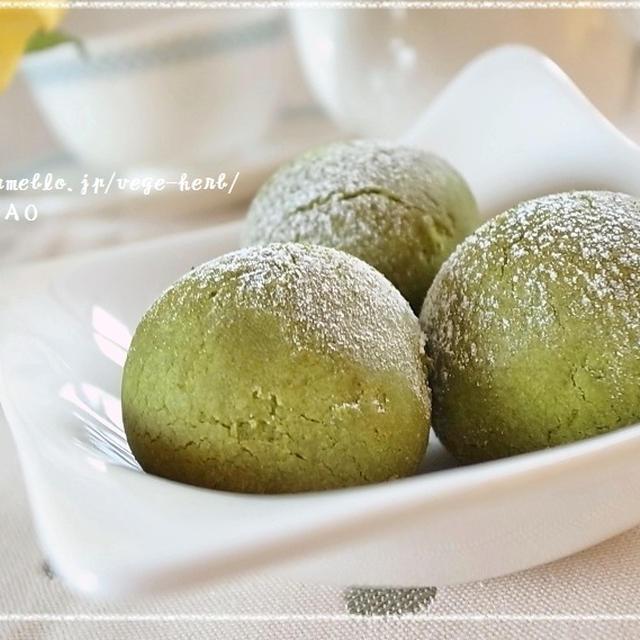 丸ごと甘栗包み♪オリーブオイルで濃厚抹茶クッキー