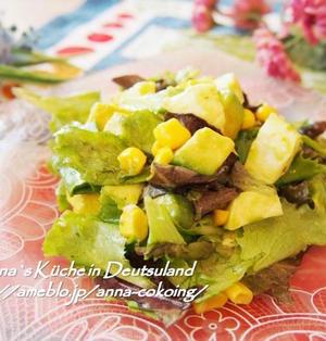 【副菜】美味しい意外な組み合わせ!アボカドとモッツァレラのサラダ めんつゆわさびドレッシング