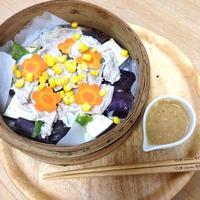 蒸し豚サラダ~味噌ソース~