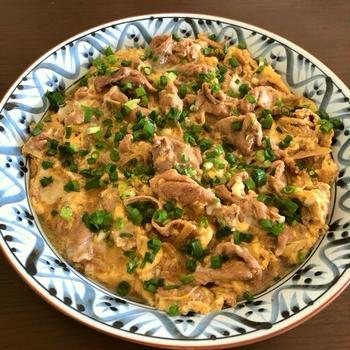 【簡単レシピ】豚肉の生姜煮の卵とじ♪