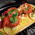 【BBQ】Wood Plank(ウッドプランク)で作るカプレーゼのレシピ。ホットなカプレーゼもトマトの酸味が飛んでおいしい。