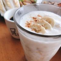 豆乳バナナとナッツのハニーレモンスムージー