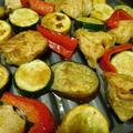 夏野菜とむね肉のグリル焼・ガラムマサラ でスパイシーに!!