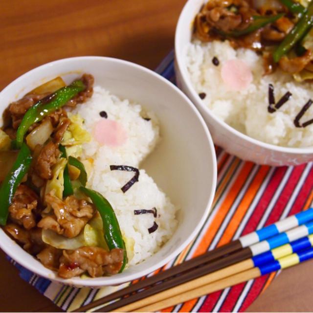 簡単朝ごはん!甜麺醤を使って本格派☆回鍋肉で「ハリネズミ丼」