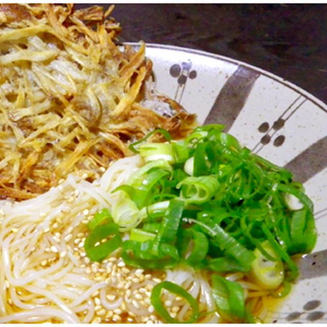 ごぼう天ぶっかけ素麺