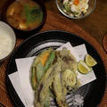 お魚と季節の野菜の天ぷら。