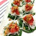 新鮮美味しいお野菜いっぱい①ぐるぐるサラダ♪とじゃがいもとオクラのサブジ風♪ by ぺるしゃんさん
