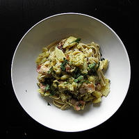 PESTO SAUCE FETTUCCINE with POTATO