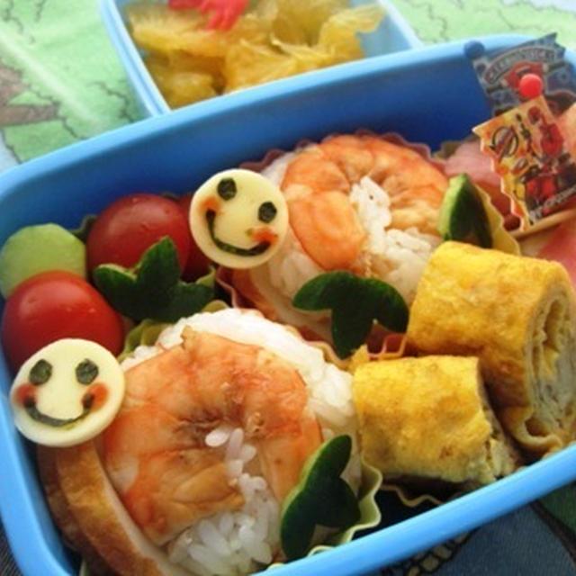 カタツムリのお弁当(幼稚園)(キャラ弁)