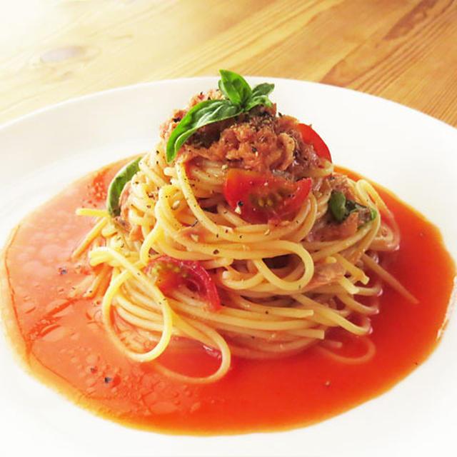 火を使わない、簡単トマトソースの冷製パスタ