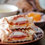 レンジで作るハムエッグで背伸びしない朝ごはん*ハムエッグチーズのホットサンドと5歳娘に好評すぎたデザート