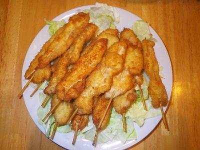 鶏むね肉の串揚げ・・・料理レシピ