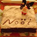 チョコレートガナッシュのクリスマスケーキ(トリュフのオマケつき) by めろんぱんママさん