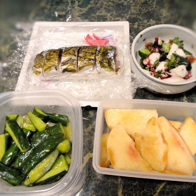 7月25日★サバの棒寿司を作りました★色々あって、今日はレシピは4品だけ