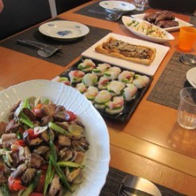 4月のお料理サロン-春満載、洋風おもてなしメニュー