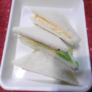 ハムサンド&玉子サンド