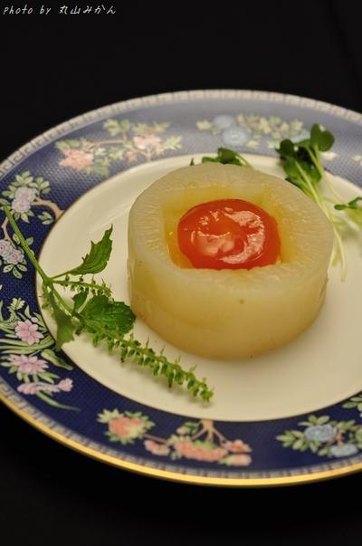 【十五夜】お月見黄身の味噌漬けの手水鉢風
