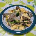 舞茸とブロッコリーの卵炒め
