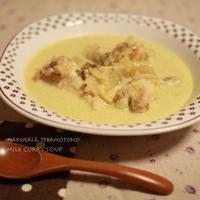 白菜と鶏肉のミルクカレースープ
