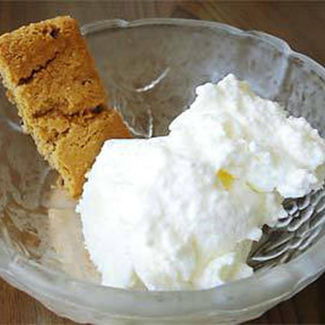 米粉の濃厚卵白ミルクアイスクリーム