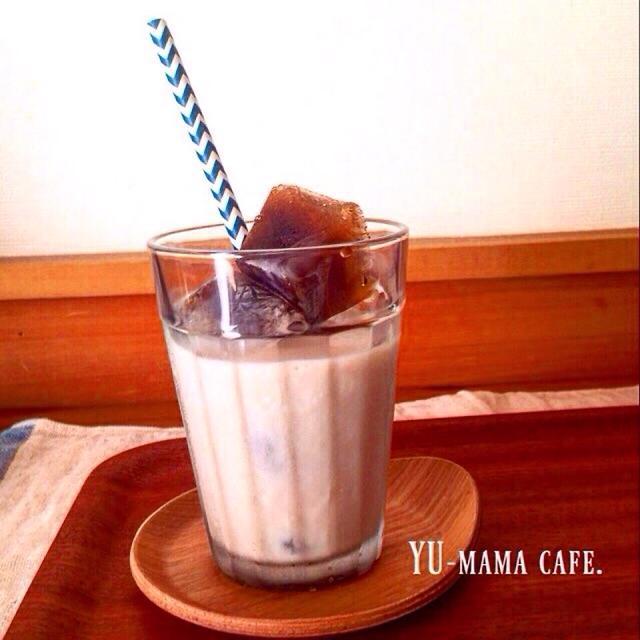 氷コーヒー♡薄まらないカフェオレ♡ミルクハースでセルフサンドイッチな朝ごはん。