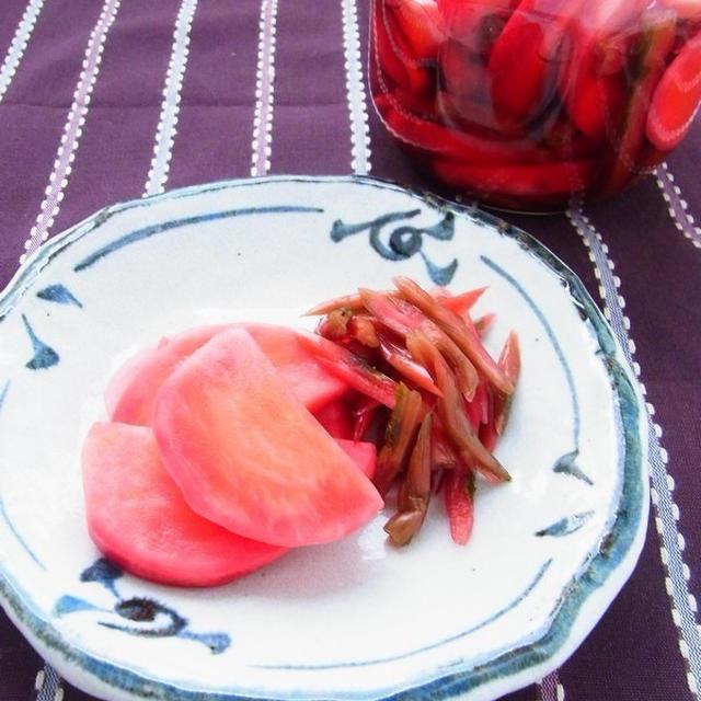 お正月まで楽しめる! 赤かぶの甘酢漬け
