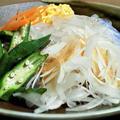 🍴 オクラとくずきりの冷麺ヾ(^∇^)