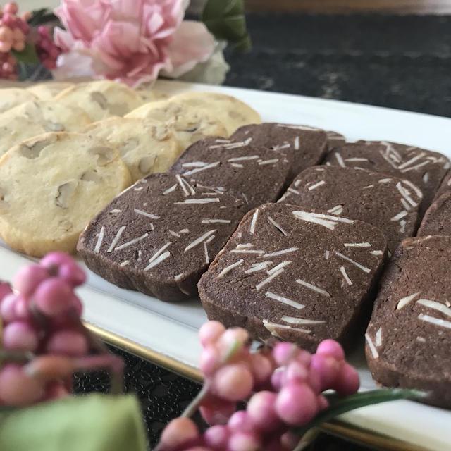 胡桃クッキーとアーモンドクッキー