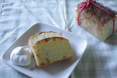 ゆずパウンドケーキでおもてなし。