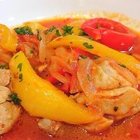 バスク風鶏肉のトマト煮。