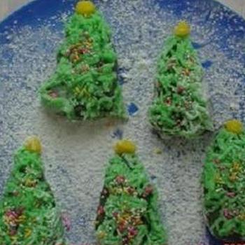 練りきりでクリスマスツリー