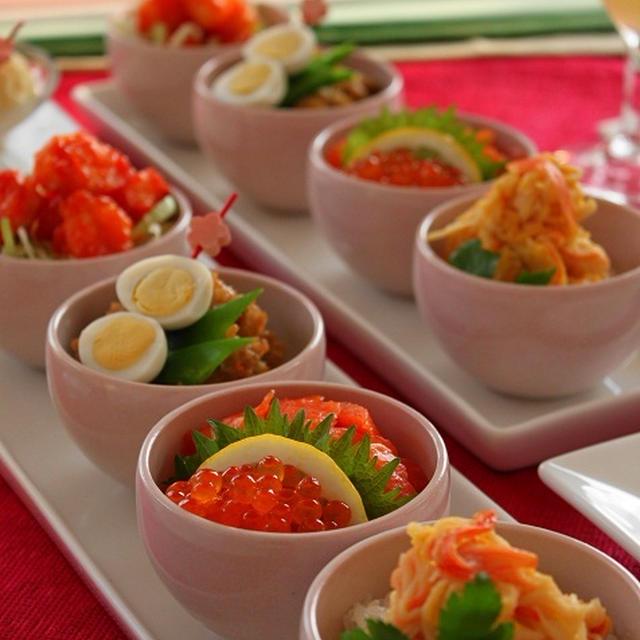 ひなまつりのぷち寿司 & にんじん入り鶏そぼろレシピ