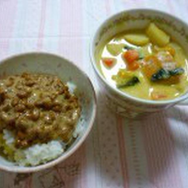 豆乳とかぼちゃの味噌スープ