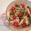 ショートパスタに美味しいスープを「マジョラム風味の鱈でアクアパッツァ」【スパイス大使
