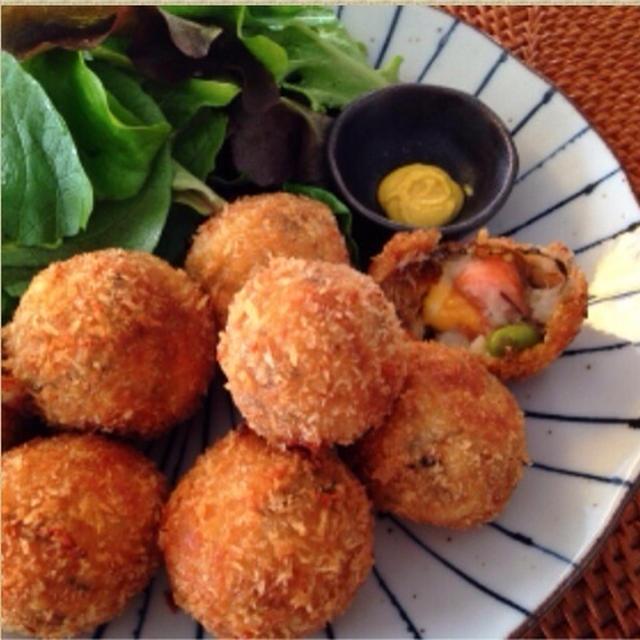 懐かしの☺︎里芋のコロッケ‼︎