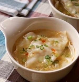 白菜とツナのあっさり水餃子