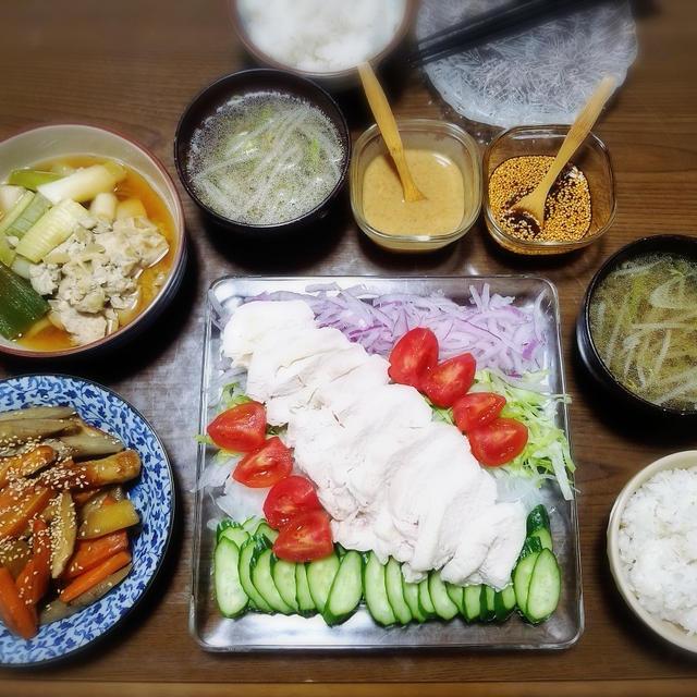 【家ごはん/献立】 しっとり柔らか♪ 茹で鶏☆ 棒棒鶏風 [レシピ]