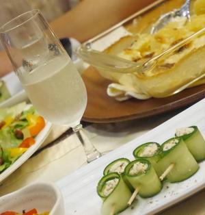 【うちレシピ】簡単前菜★クリームチーズのきゅうり巻き / 【参加中】「澪」と楽しむパーティレシピ